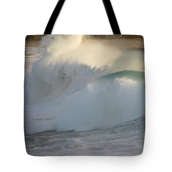 Tote Bag featuring the photograph Heavy Surf At Carmel River Beach by James B Toy