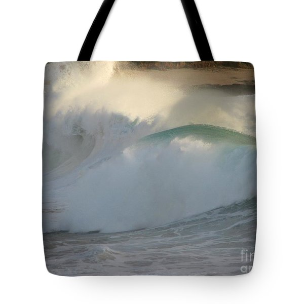 Heavy Surf At Carmel River Beach Tote Bag