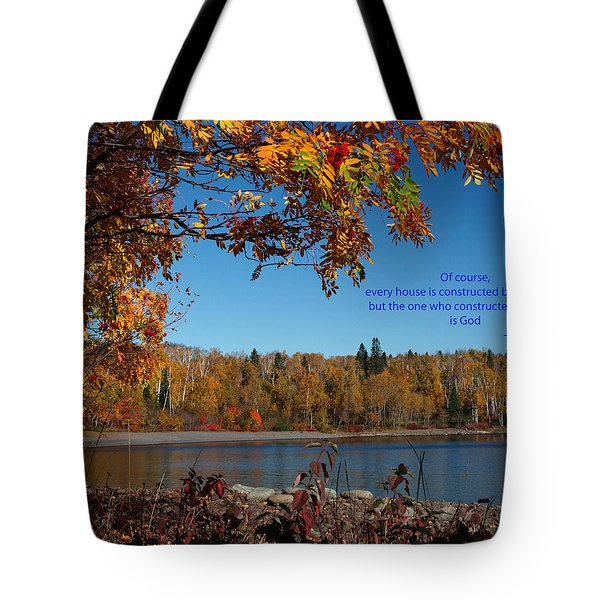 Tote Bag featuring the photograph Hebrews 3 4 by James Peterson