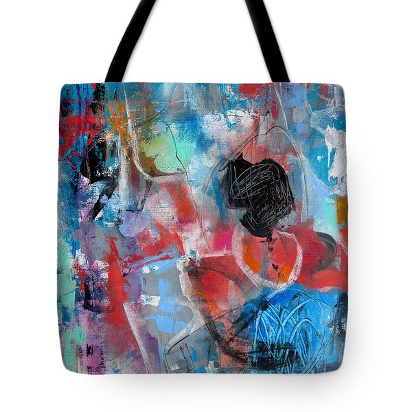 Tote Bag featuring the painting Hectic by Katie Black