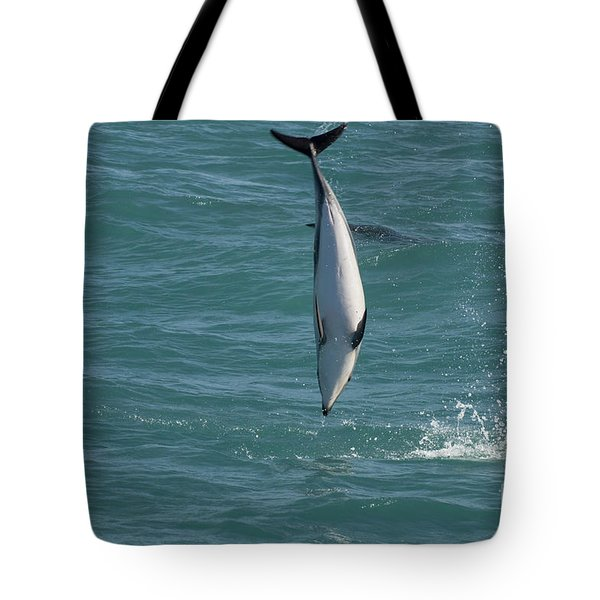 Hector Dolphin Diving Tote Bag