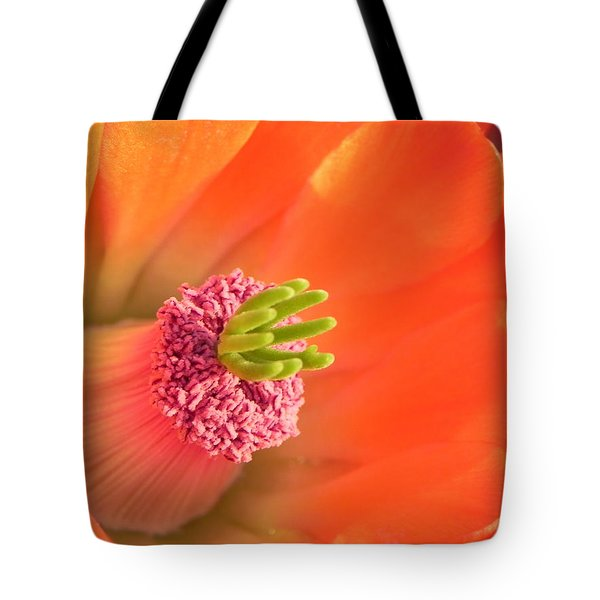 Tote Bag featuring the photograph Hedgehog Cactus Flower by Deb Halloran