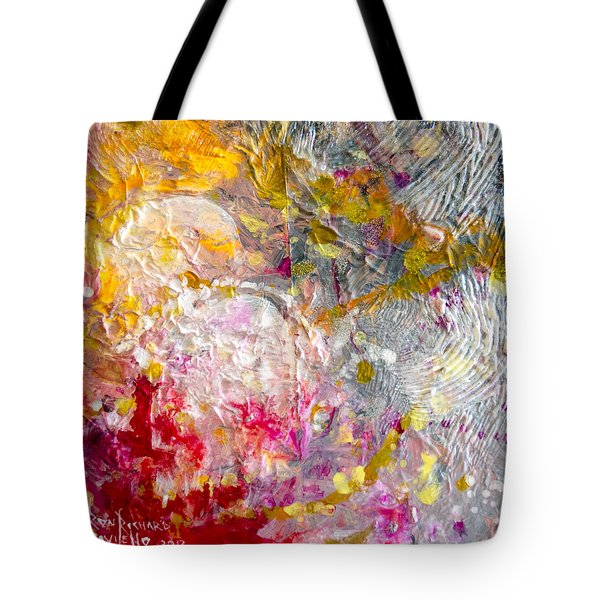 Tote Bag featuring the painting Hedonic by Ron Richard Baviello