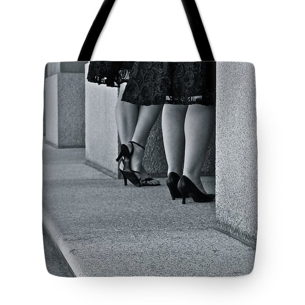 Heels And Lace Tote Bag by Linda Bianic