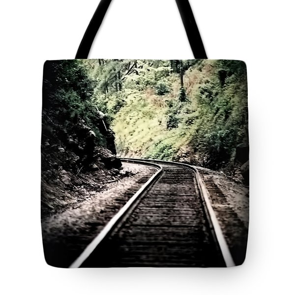 Hegia Burrow Railroad Tracks  Tote Bag
