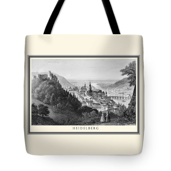 Heidelberg Etching Tote Bag