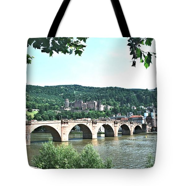 Heidelberg Schloss Overlooking The Neckar Tote Bag by Gordon Elwell