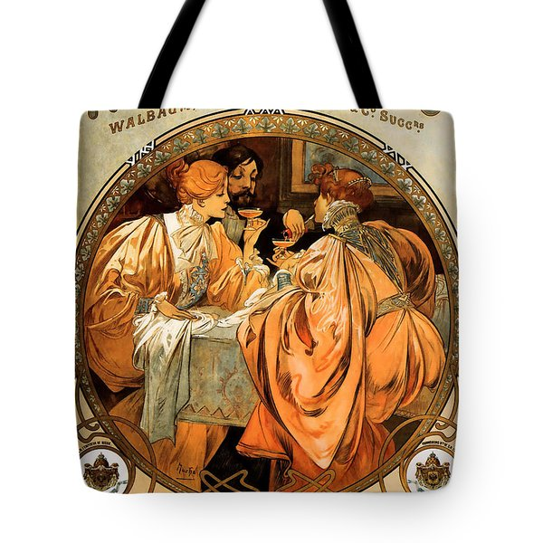 Heidsieck Champagne Poster Advert Tote Bag by Philip Ralley