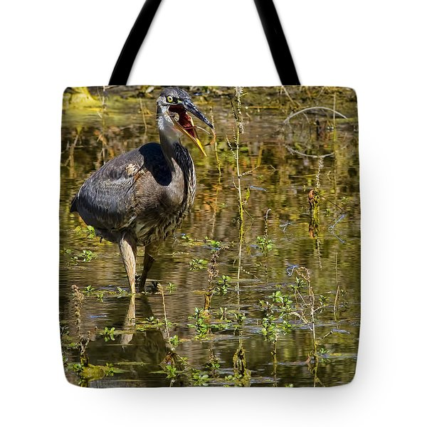 Tote Bag featuring the photograph Heimlich Please by Gary Holmes