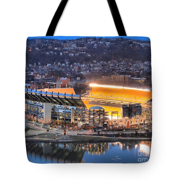 Heinz Field At Night Tote Bag