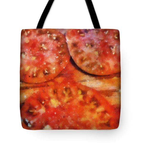 Heirlooms With Salt And Pepper Tote Bag by Michelle Calkins