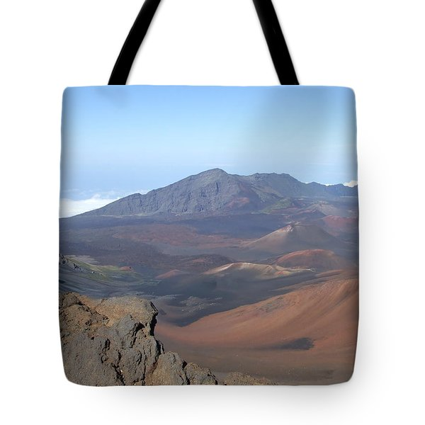 Tote Bag featuring the photograph Heleakala Volcano In Maui by Richard Reeve