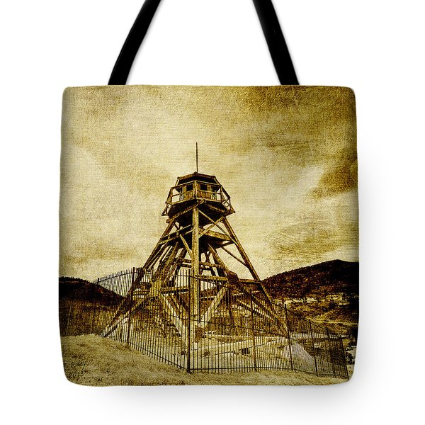 Tote Bag featuring the photograph Helena-montana-fire Tower by Fran Riley