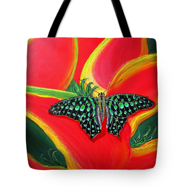 Tote Bag featuring the painting Solomans Kiss by Debbie Chamberlin