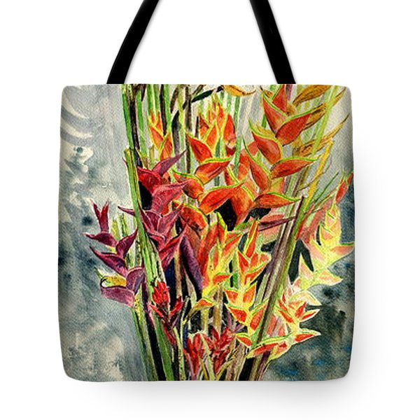 Heliconia Bouquet Tote Bag