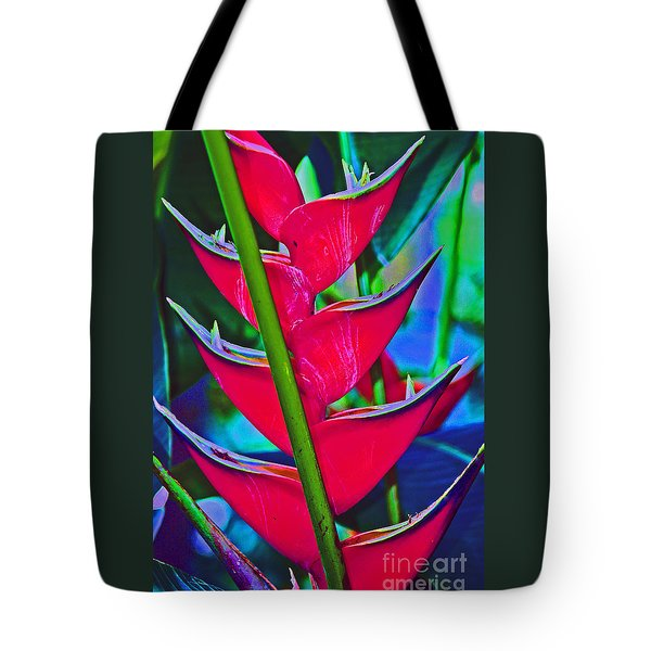 Heliconia Abstract Tote Bag