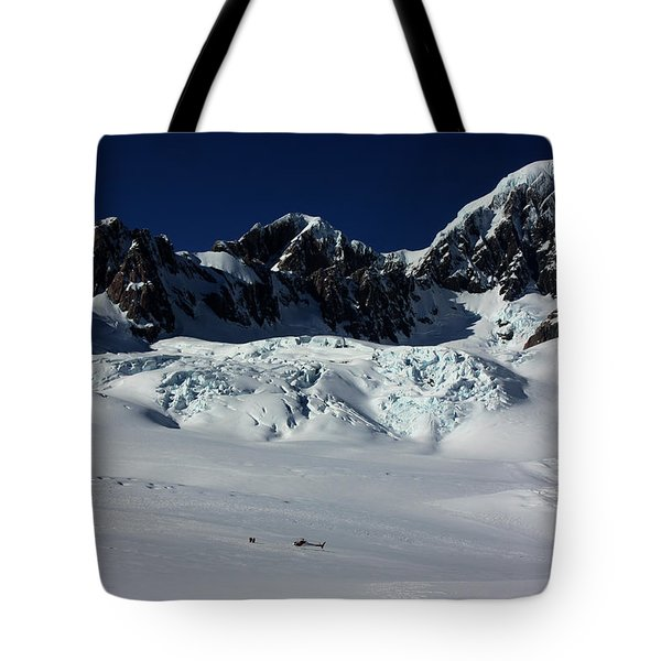 Tote Bag featuring the photograph Helicopter New Zealand  by Amanda Stadther