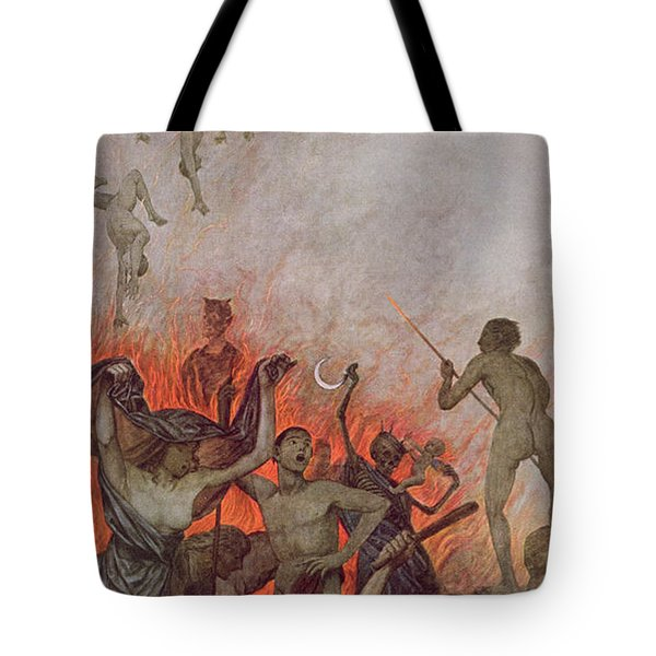Hell Tote Bag by Hans Thoma