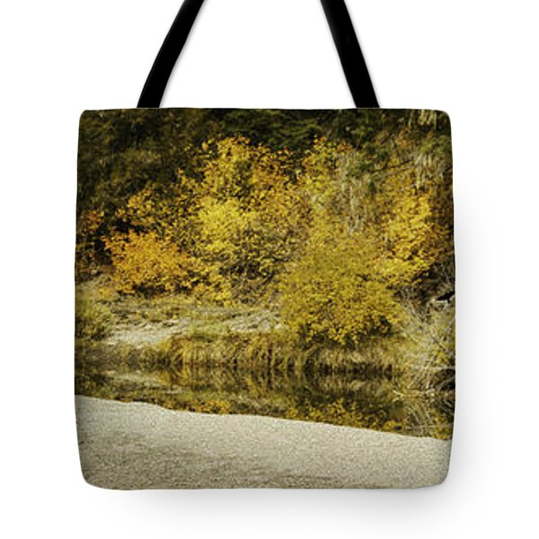 Hello Autumn Panorama Tote Bag by Diane Schuster