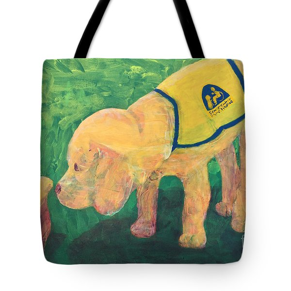 Hello - Cci Puppy Series Tote Bag by Donald J Ryker III