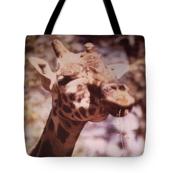 Velvety Giraffe Tote Bag by Belinda Lee