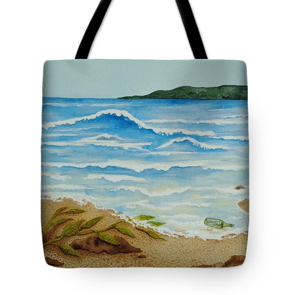 Tote Bag featuring the painting Hello? by Katherine Young-Beck