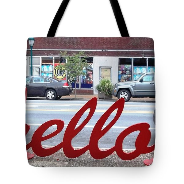 Tote Bag featuring the photograph Hello by Kelly Awad