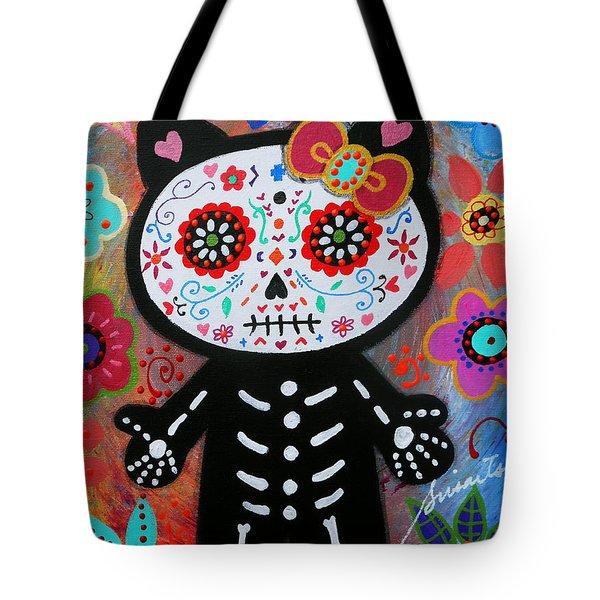 Hello Kitty Dia De Los Muertos Tote Bag