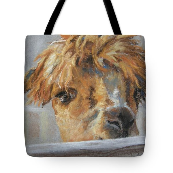 Hello Tote Bag by Lori Brackett