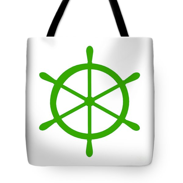 Helm In Green And White Tote Bag