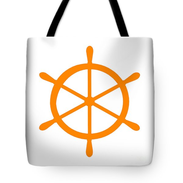 Helm In Orange And White Tote Bag