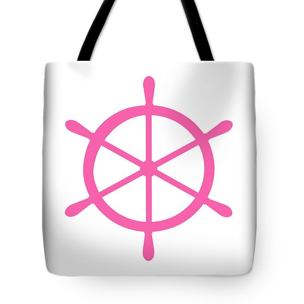 Helm In Pink And White Tote Bag