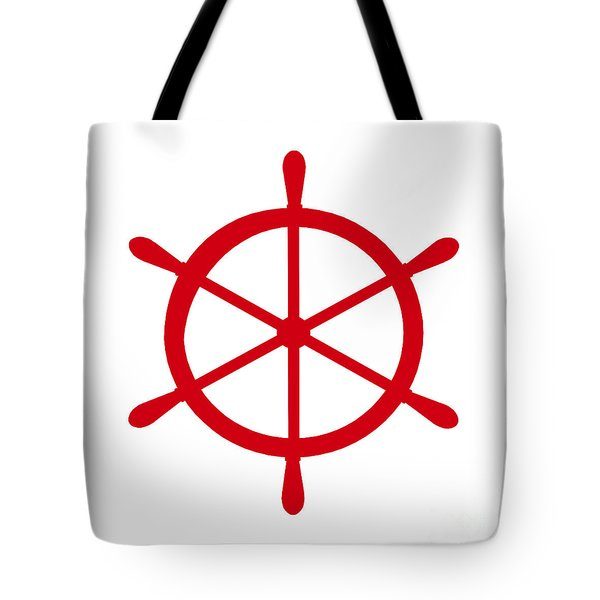 Helm In Red And White Tote Bag