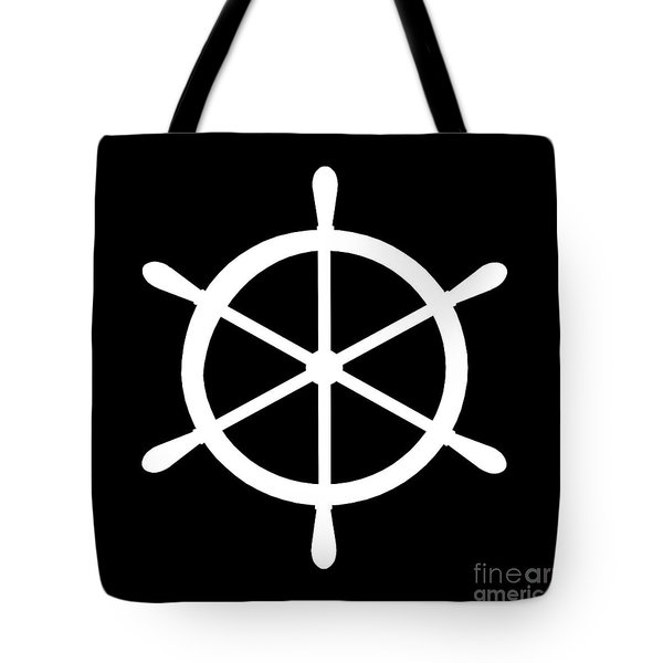 Helm In White And Black Tote Bag
