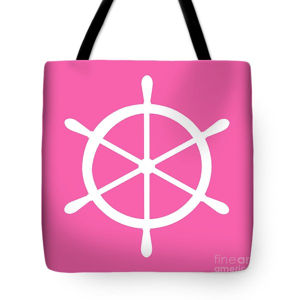 Helm In White And Pink Tote Bag