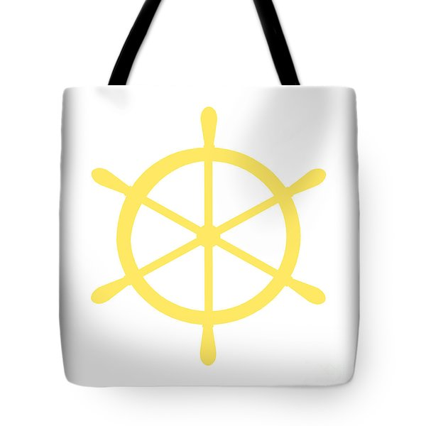 Helm In Yellow And White Tote Bag