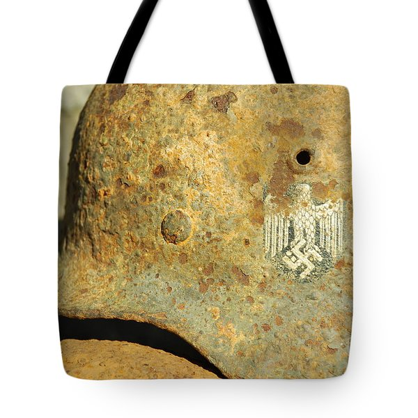 Steel Helmet Tote Bag