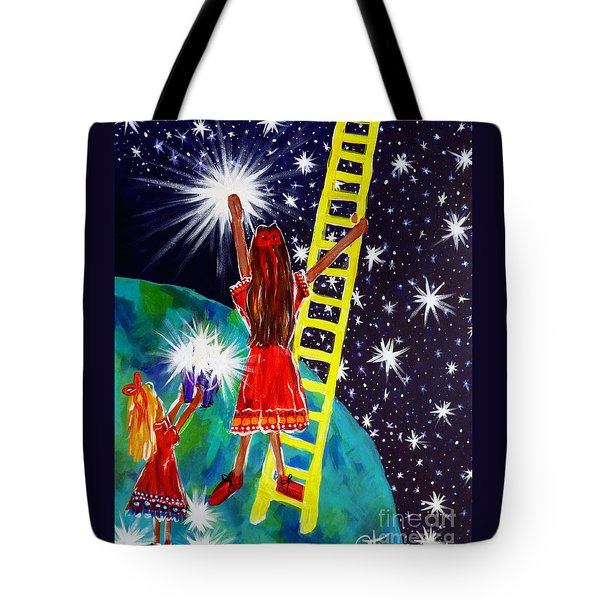 Helping Hands Tote Bag by Jackie Carpenter