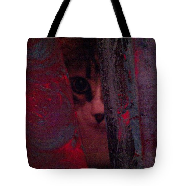 Tote Bag featuring the photograph Helping In The Art Studio by Jacqueline McReynolds