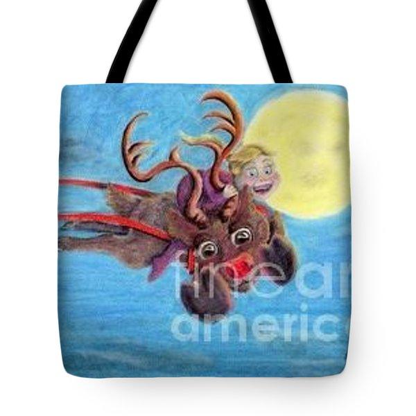 Helping Santa Tote Bag by Laurianna Taylor