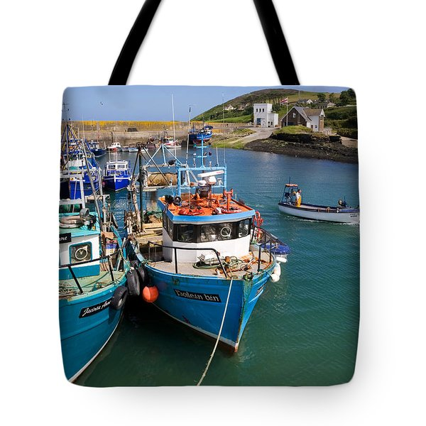 Helvick Harbour, Ring Gaeltacht Region Tote Bag