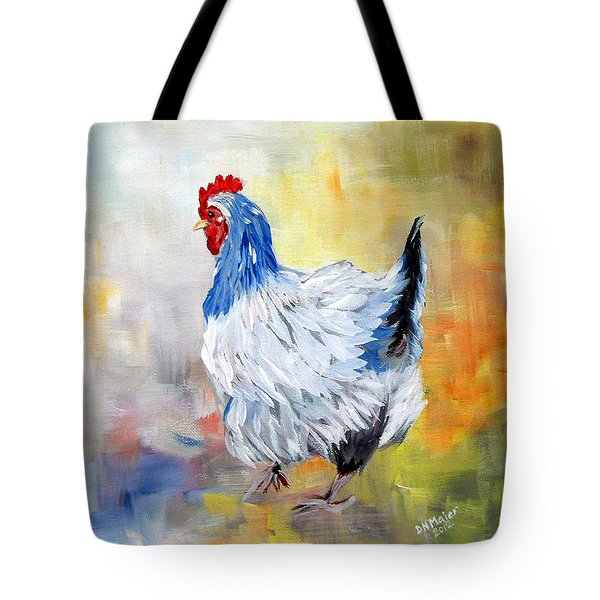 Tote Bag featuring the painting Hen by Dorothy Maier