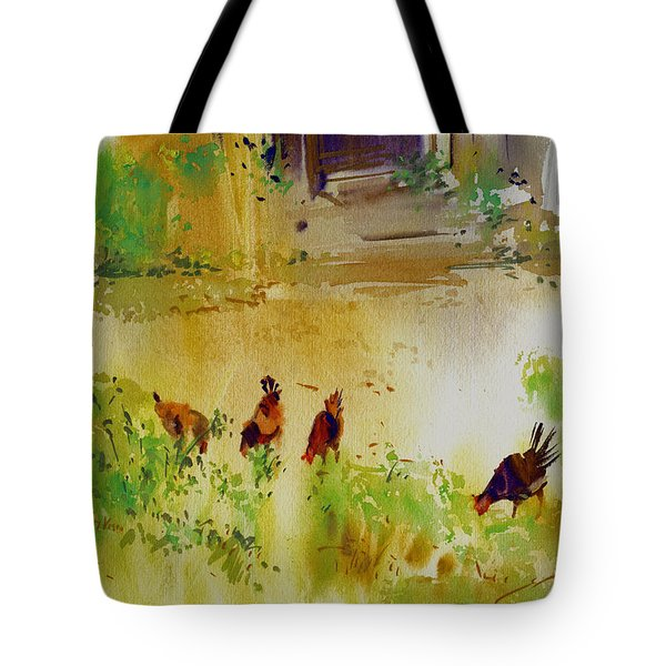 Hen Pecked Tote Bag