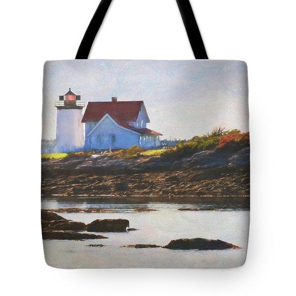 Hendricks Head Lighthouse - Maine Tote Bag by Jean-Pierre Ducondi
