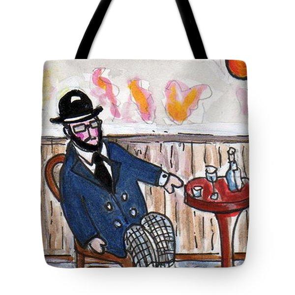 Henri Always Enjoys His Evenings. Tote Bag