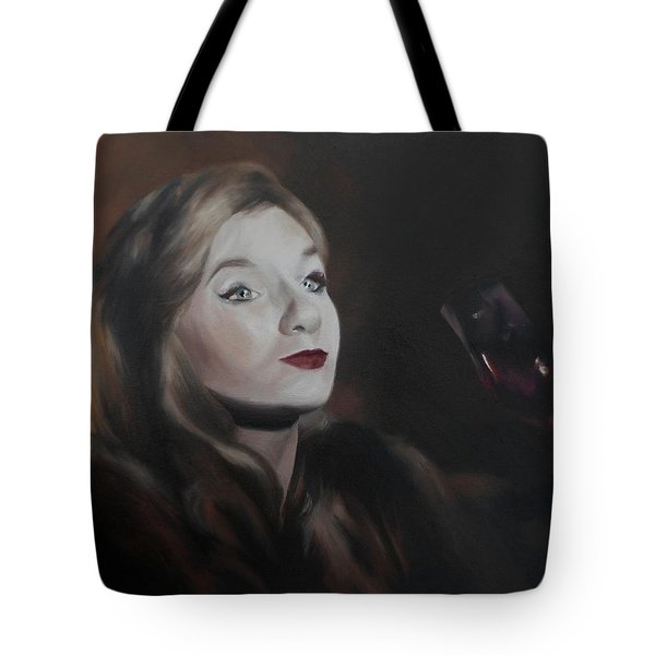 Tote Bag featuring the painting Henrietta by Cherise Foster