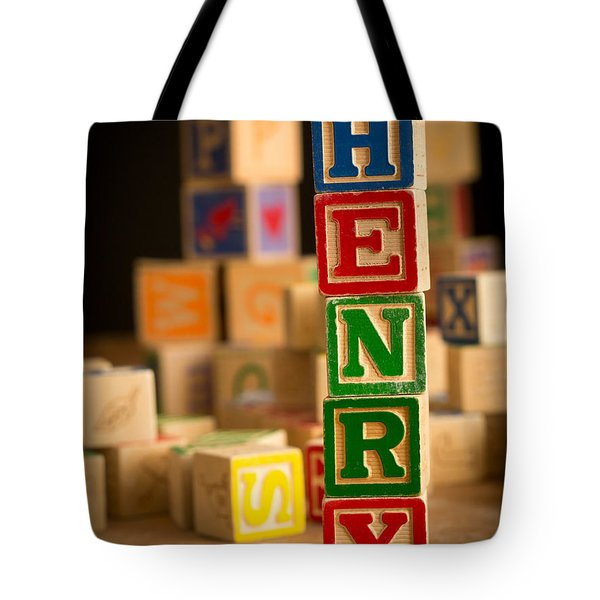 Henry - Alphabet Blocks Tote Bag