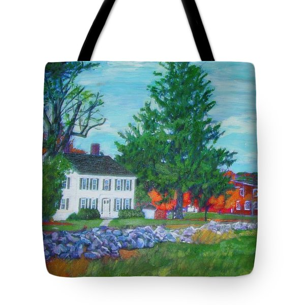 Henry Warren House And Barn Tote Bag