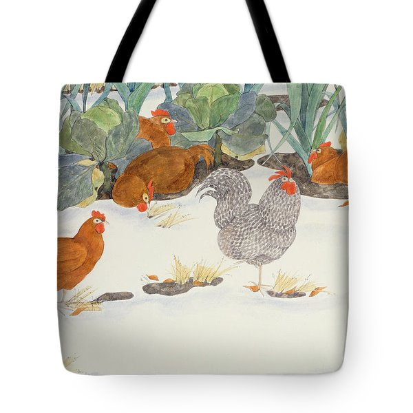 Hens In The Vegetable Patch Tote Bag