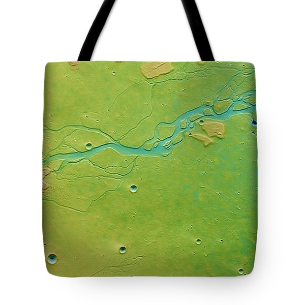 Tote Bag featuring the photograph Hephaestus Fossae, Mars by Science Source